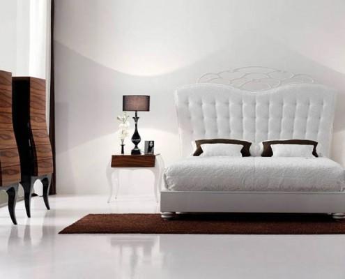 Dormitorio clasico Otis blanco