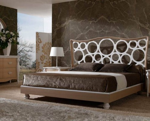 Dormitorio clasico Pelagia blanco y roble