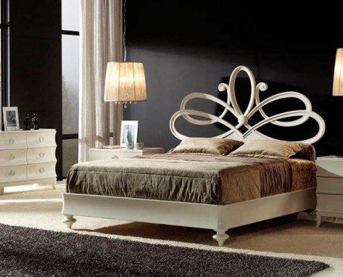 Dormitorio clasico Raisa blanco