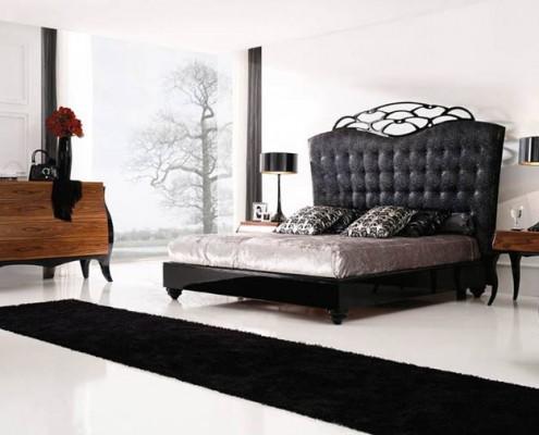 Dormitorio clasico Otis negro