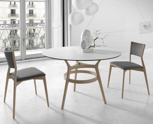 Mesas redondas de comedor modernas elegant mesa comedor moderna egipto redonda porcelanico with - Mesa comedor porcelanico ...