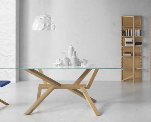 Mesa comedor moderna Venecia cristal