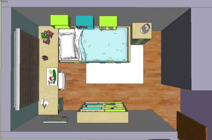 Dormitorio juvenil 3D AS-1
