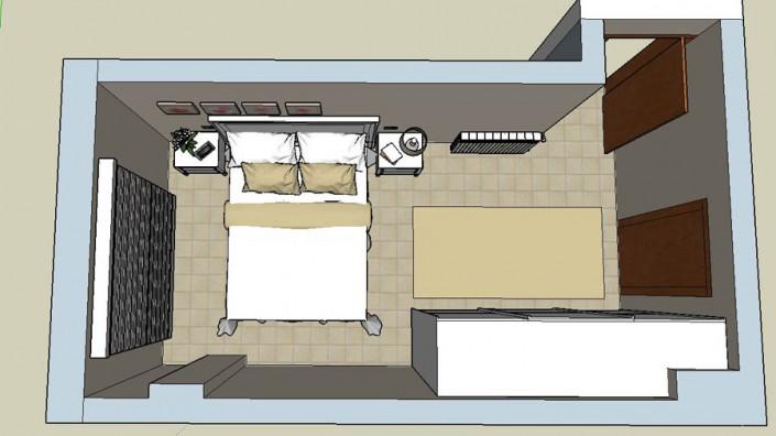 Proyecto dormitorio matrimonio 3D LB-1