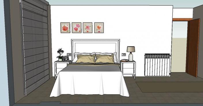 Proyecto dormitorio matrimonio 3D LB-2