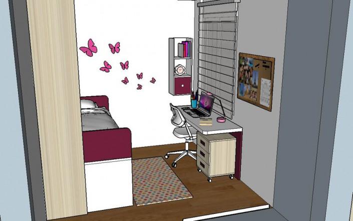 Proyecto dormitorio juvenil 3D CT-2